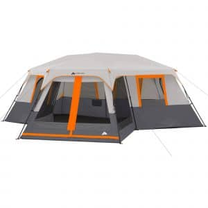 Ozark trail 12 person 3 room instant cabin tent with screen porch