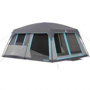 ozark trail 12 person dark rest tent