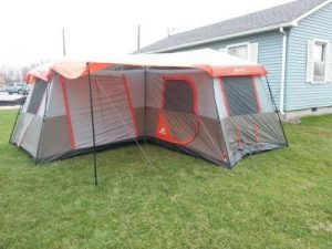 Ozark Trail 16 x 16-Feet 12-Person 3 Room Instant Cabin Tent