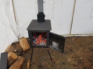 wood Stove tent