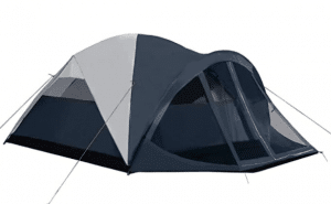 Pacific Pass Camping Tent 6 Person Family Dome Tent with Screen Room